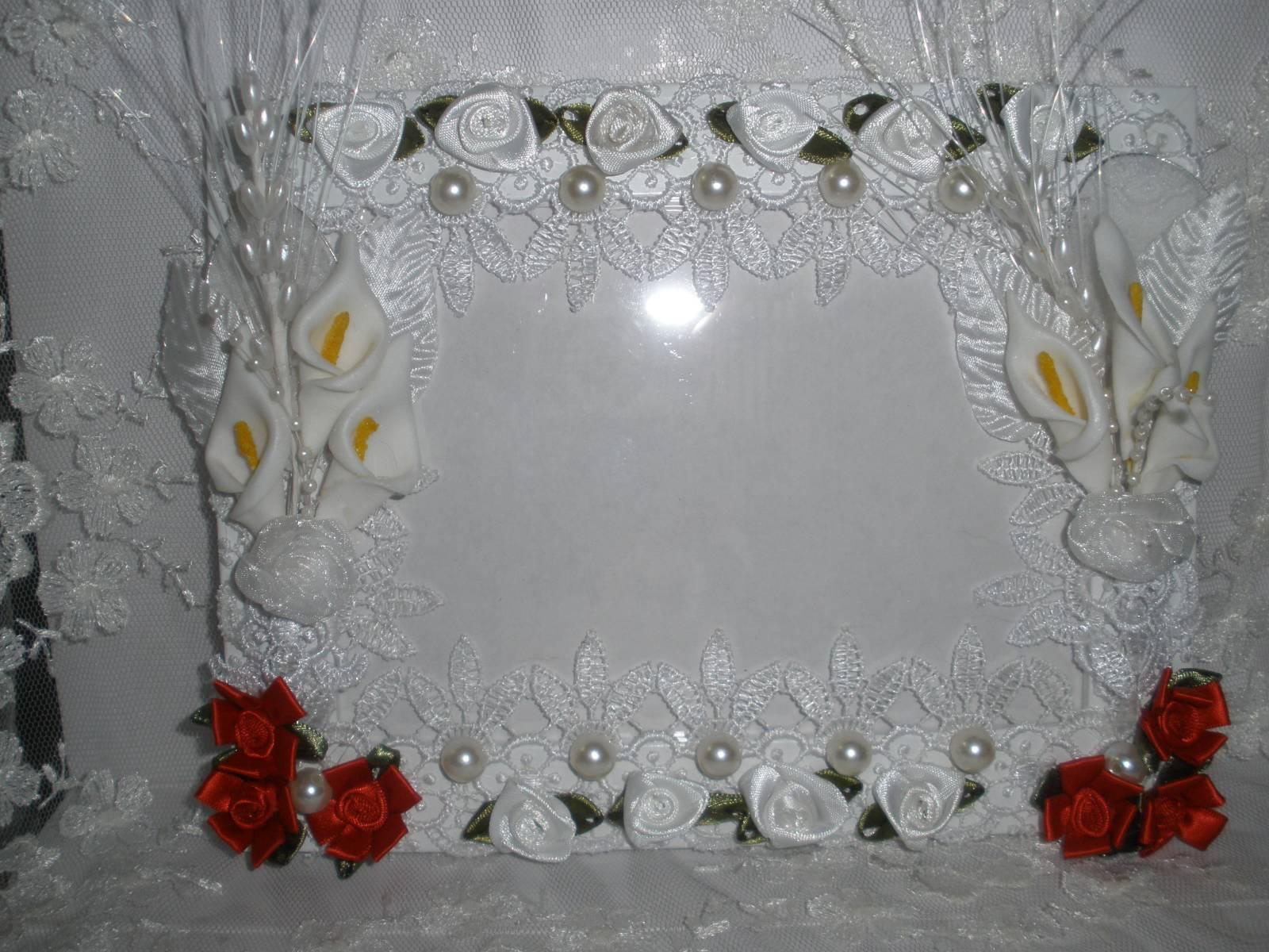 Украшение рамок лентами фото